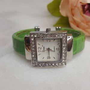 Vivani Green Cuff Watch